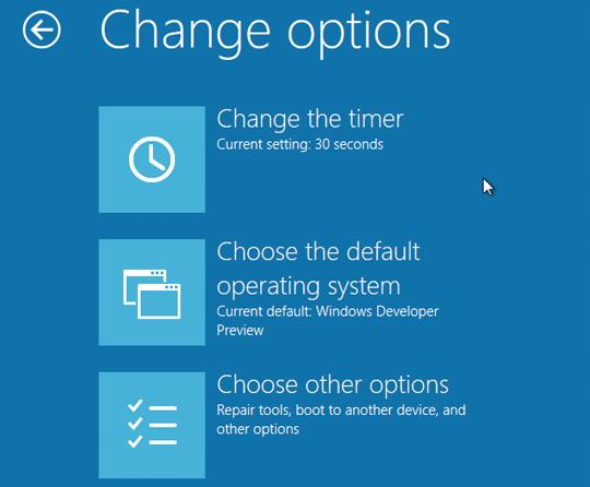 Windows 8とWindows 7のマルチブート(ブートセレクト画面)